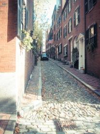 Old cobblestone street
