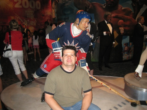 Hanging out with the Great One at Madame Tussaud's Wax Museum in New-York