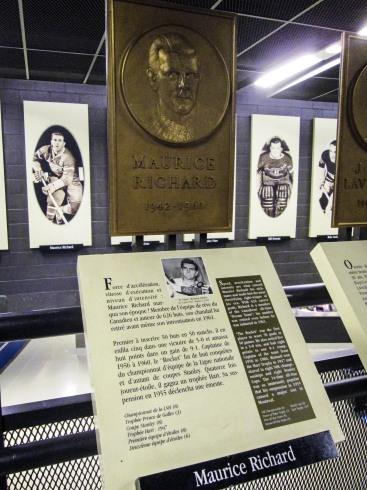 Maurice Rocket Richard's plaque