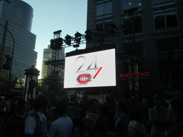 Publicity for the Canadiens's reality show 24CH