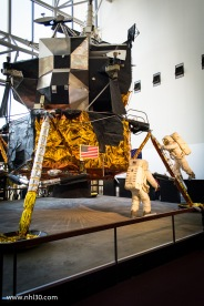 Actual (unused) lunar landing module. It looks like someone put it together int heir garage with scrap metal and tin foil!