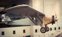 Charles Lindbergh's Spirit of St-Louis. Lindbergh was the first man to fly solo from New-York to Paris. In that little plane.