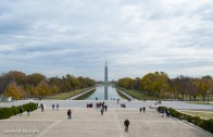 Looking out from the Lincoln Memorial.