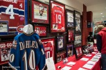Silent Auction, featuring some Habs memorabilia (Montreal has those too but I don't think they feature items from the visiting team)