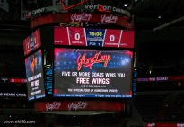Five goals nets you free wings! Montreal has the same deal.