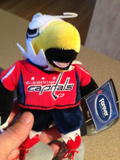 Caps mascot Slapshot. My son loves it!
