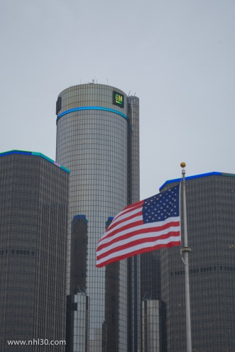 The Renaissance Center is home to General Motors headquarters. Probably the nicest place we saw in Detroit.
