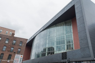 The Prudential Center from the side