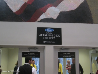 VIP section has its own indoor parking