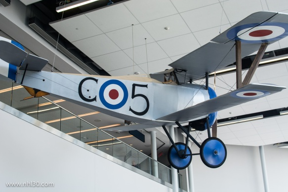 Replica of Billy Bishop's plane at the airport bearing his name