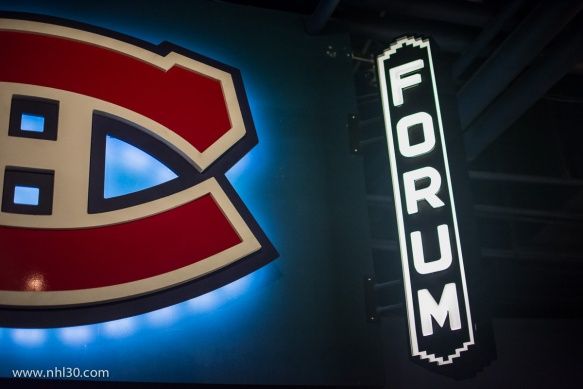 Judging by its size, I assume this sign is a replica of the old Montreal Forum?