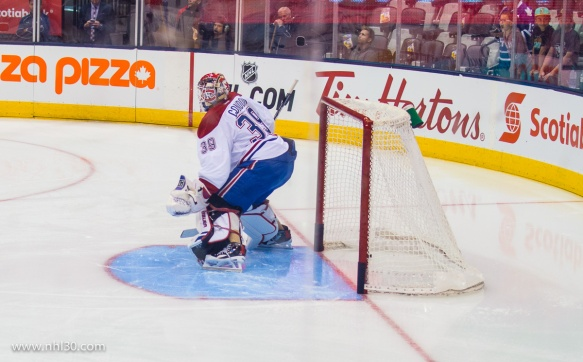 Rookie Mike Condon would go on to shutout the Leafs