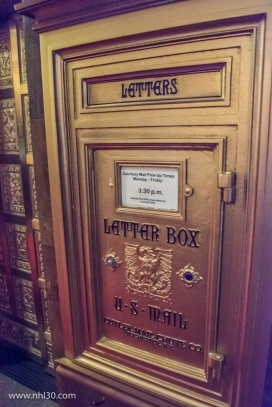 Old school letterbox at the Virgin Hotel