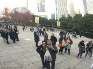 Selfie on the Cloud Gate.