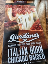 Chicago's famous deep dish pizza. Giordano's claims to be the inventor, although there are other claimants to the title.
