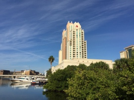 The Marriott, seen from the waterfront