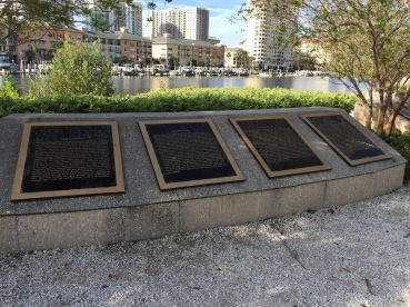 Waterfront plaques