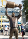 Dave Andreychuk at the entrance of Thunder Alley